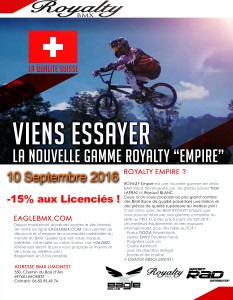 Viens essayer la nouvell gamme Royalty Empire 10 Septembre 2016