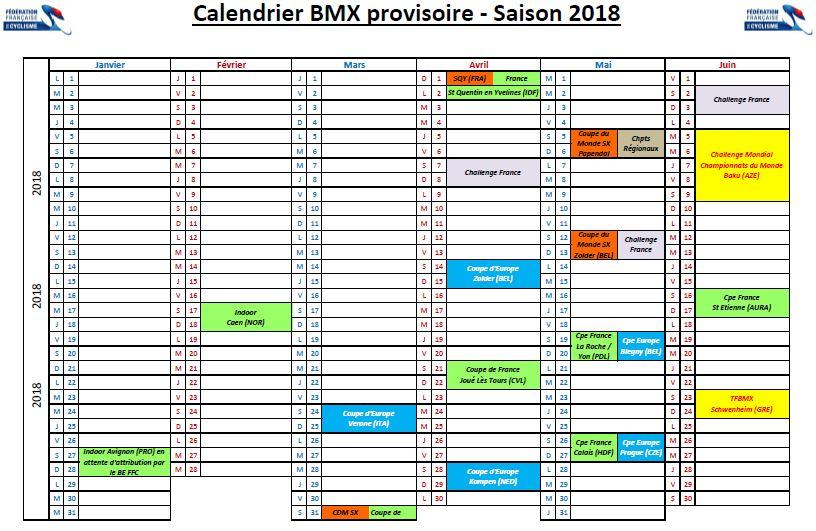 Calendrier Bmx 2019.Bmx Vtt Limonest Since 1983 Calendrier Provisoire 2018 1